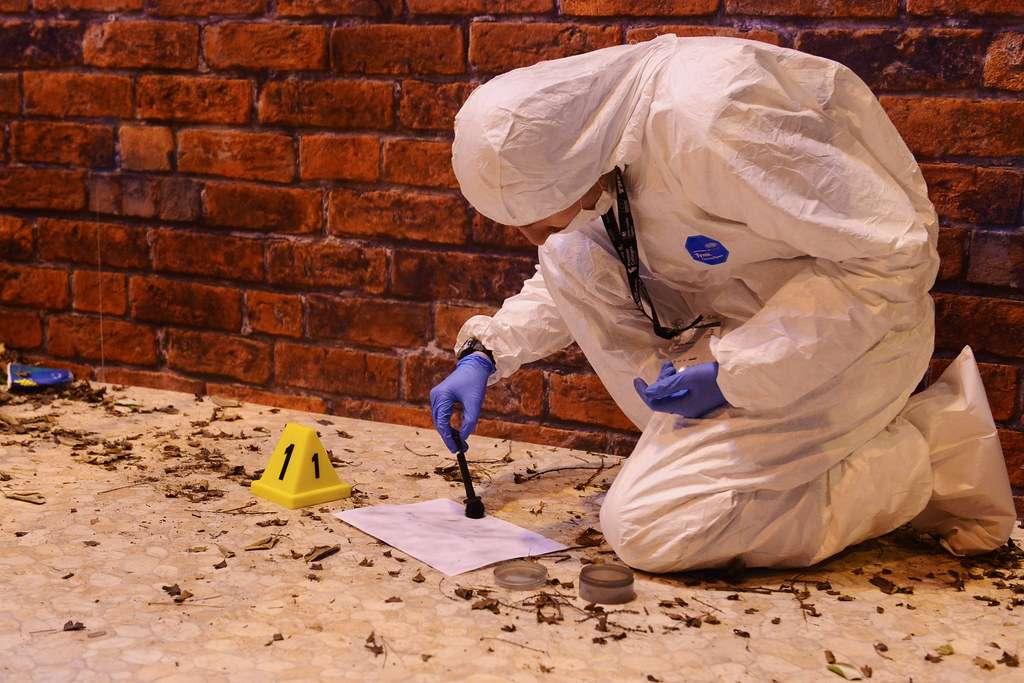 fingerprinting at crime scene